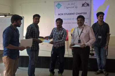 2nd Prize winners Y.P. Vinay and M. Suryarama Sastry, IV Year IT