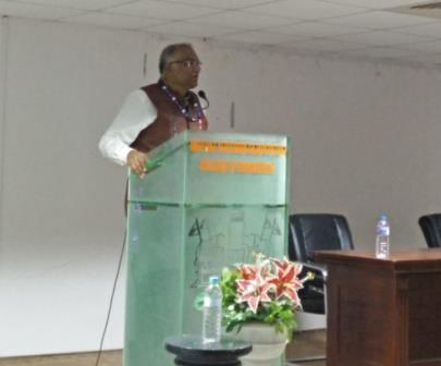 Dr. Y.V.N.K. Murthy, Director, Indian Inst. of Remote Sensing, address to students