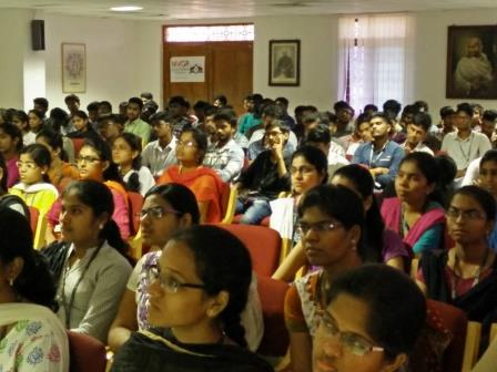 Students listening to session on Data Analytics