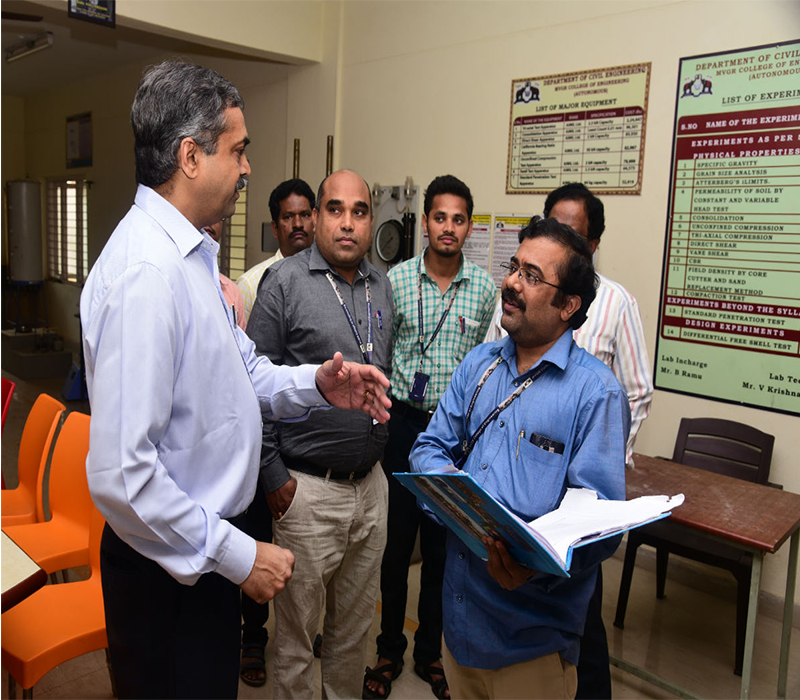 Prof. SK Barai, IIT Kharagpur interacting with faculty and visit to Laboratories