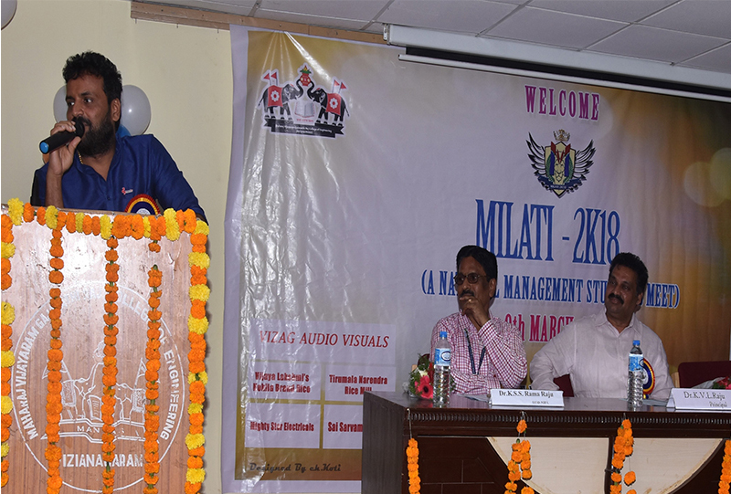 Address by Chief Guest Mr. Doraswamy PC , CEO, Brandix India Ltd., during inauguration