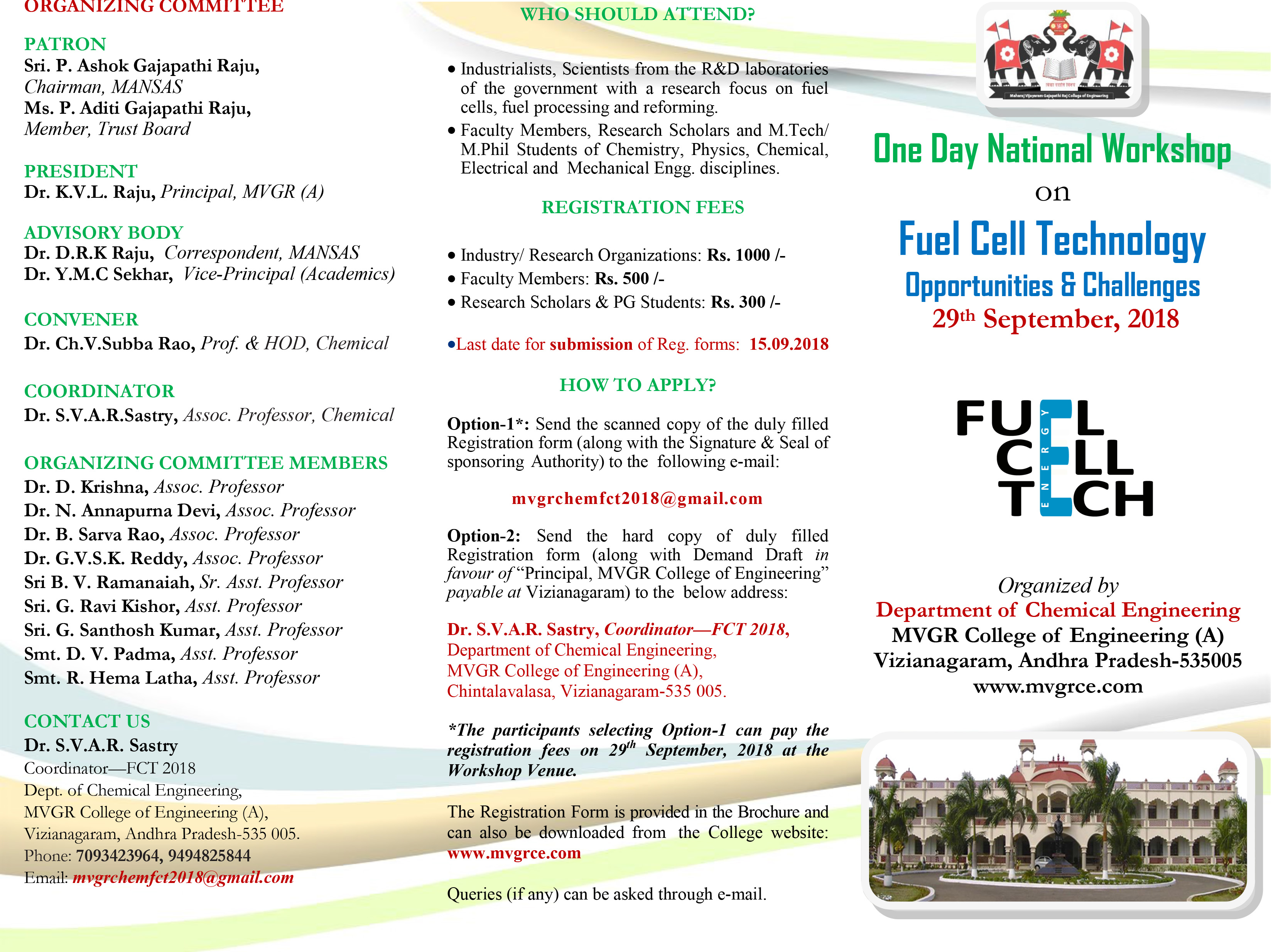 Fuel Cell Technology Work Shop Broucher